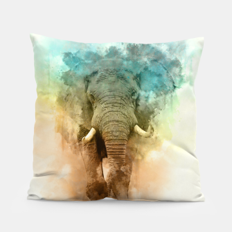 Thumbnail image of Wild Elephant Pillow, Live Heroes