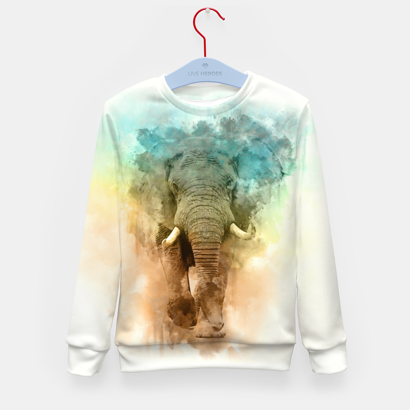 Image of Wild Elephant Kid's sweater - Live Heroes