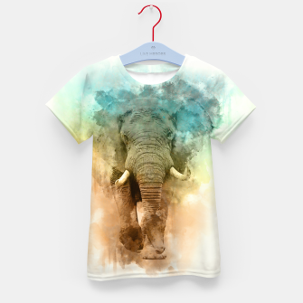 Thumbnail image of Wild Elephant Kid's t-shirt, Live Heroes
