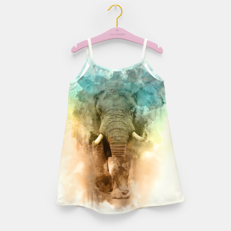 Wild Elephant Girl's dress thumbnail image