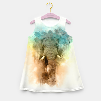 Wild Elephant Girl's summer dress Bild der Miniatur