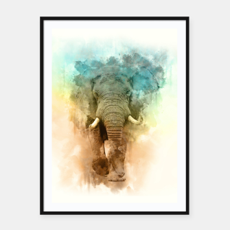 Thumbnail image of Wild Elephant Framed poster, Live Heroes