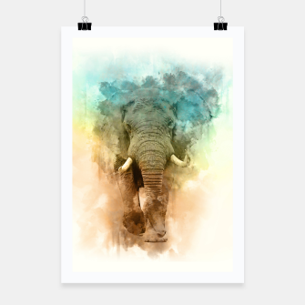 Thumbnail image of Wild Elephant Poster, Live Heroes