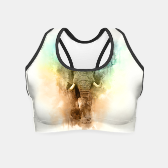 Thumbnail image of Wild Elephant Crop Top, Live Heroes