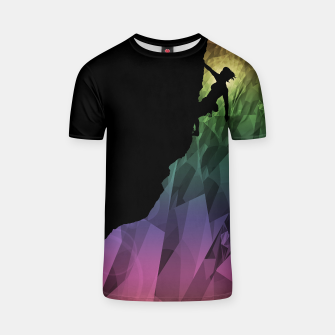 Thumbnail image of climbing the rainbow t shirt, Live Heroes