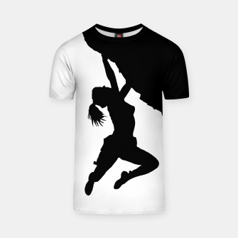 Thumbnail image of girl bouldering t shirt, Live Heroes