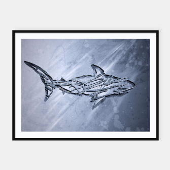 Miniature de image de Abstract Shark Plakat mit rahmen, Live Heroes