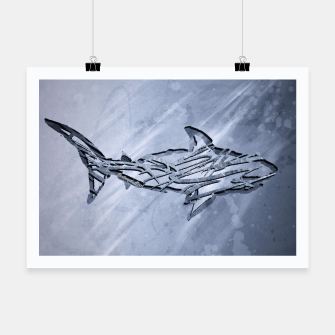 Miniature de image de Abstract Shark Plakat, Live Heroes
