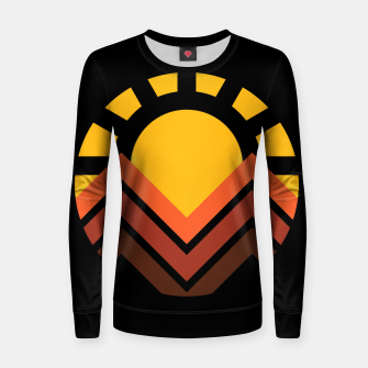 Thumbnail image of Sunset Mountain Women sweater, Live Heroes