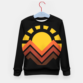 Miniaturka Sunset Mountain Kid's sweater, Live Heroes