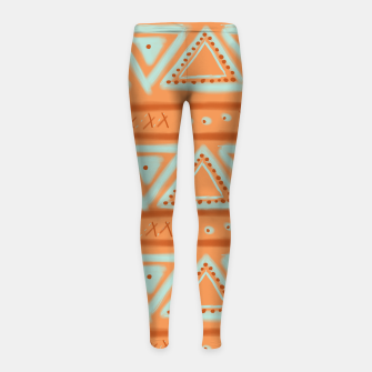 Thumbnail image of JUST IT II - TRIBAL Girl's leggings, Live Heroes