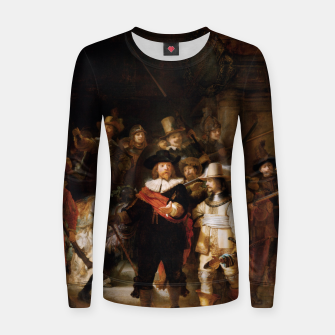 Thumbnail image of La Ronda de Noche by Rembrandt van Rijn - Old Masters Prints Women sweater, Live Heroes