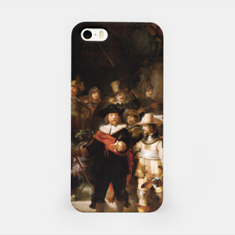 La Ronda de Noche by Rembrandt van Rijn - Old Masters Prints iPhone Case thumbnail image