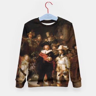 Thumbnail image of La Ronda de Noche by Rembrandt van Rijn - Old Masters Prints Kid's sweater, Live Heroes