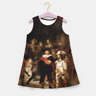 Thumbnail image of La Ronda de Noche by Rembrandt van Rijn - Old Masters Prints Girl's summer dress, Live Heroes