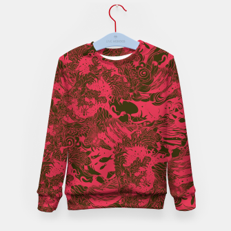 Miniature de image de Big Waves Dark Kid's sweater, Live Heroes