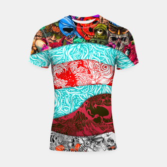 Thumbnail image of Stripes Shortsleeve rashguard, Live Heroes