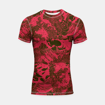 Thumbnail image of Big Waves Dark Shortsleeve rashguard, Live Heroes