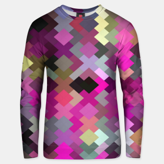 Miniature de image de geometric square pixel pattern abstract in purple pink yellow Unisex sweater, Live Heroes