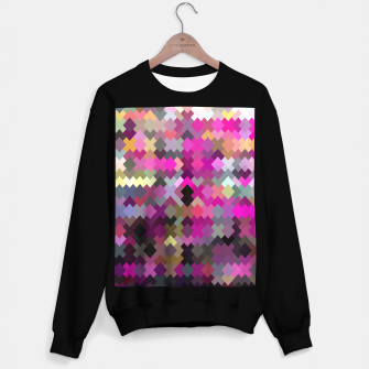 Miniature de image de geometric square pixel pattern abstract in purple pink yellow Sweater regular, Live Heroes