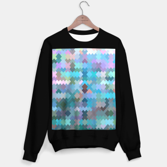 Miniature de image de geometric square pixel pattern abstract in blue and pink Sweater regular, Live Heroes