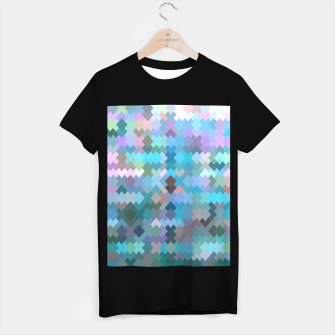 Miniature de image de geometric square pixel pattern abstract in blue and pink T-shirt regular, Live Heroes
