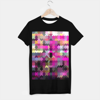 Miniature de image de geometric square pixel pattern abstract in purple pink yellow T-shirt regular, Live Heroes