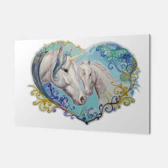 Miniaturka UNICORN MARE AND FOAL -DH Canvas, Live Heroes