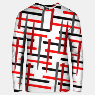 Miniature de image de black white red grey white abstract art Unisex sweater, Live Heroes