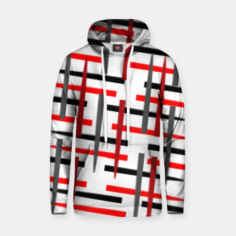 Thumbnail image of black white red grey white abstract art Hoodie, Live Heroes