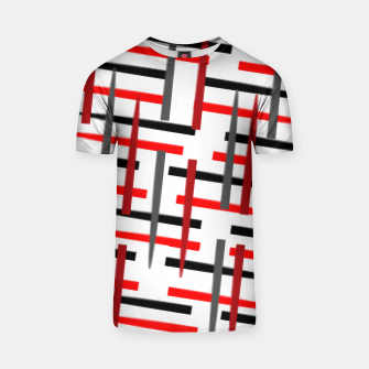 Thumbnail image of black white red grey white abstract art T-shirt, Live Heroes