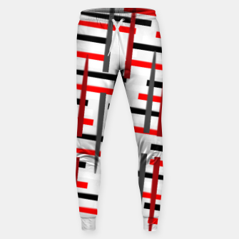 Thumbnail image of black white red grey white abstract art Sweatpants, Live Heroes