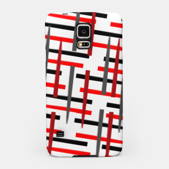Thumbnail image of black white red grey white abstract art Samsung Case, Live Heroes
