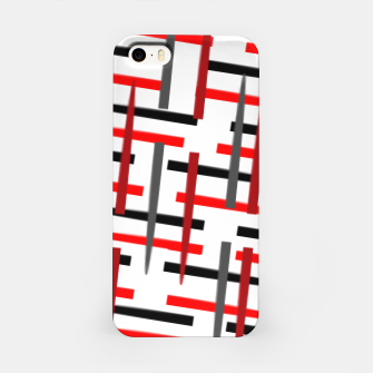Thumbnail image of black white red grey white abstract art iPhone Case, Live Heroes
