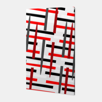 Thumbnail image of black white red grey white abstract art Canvas, Live Heroes