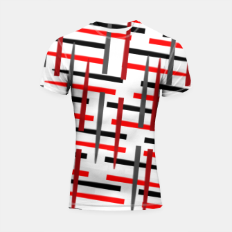 Thumbnail image of black white red grey white abstract art Shortsleeve rashguard, Live Heroes
