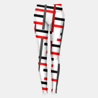Thumbnail image of black white red grey white abstract art Leggings, Live Heroes