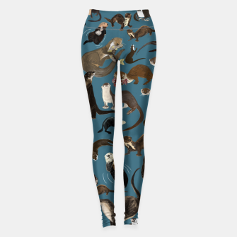 Thumbnail image of Otter pattern in teal Leggings, Live Heroes