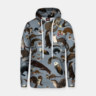 Miniature de image de Otters of the World pattern in grey Sudadera con capucha, Live Heroes