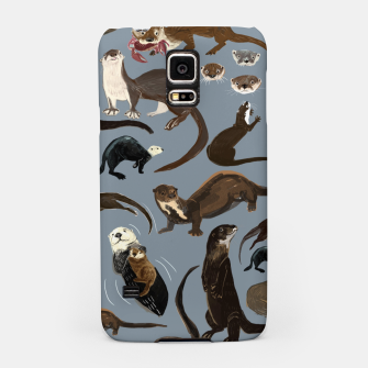 Miniature de image de Otters of the World pattern in grey Carcasa por Samsung, Live Heroes