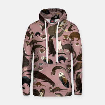 Miniature de image de Otters of the World pattern in pink Sudadera con capucha, Live Heroes