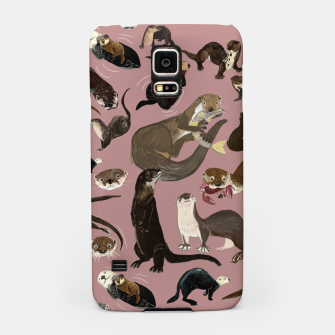 Miniature de image de Otters of the World pattern in pink Carcasa por Samsung, Live Heroes