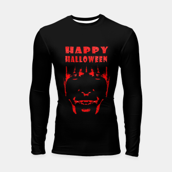 Thumbnail image of Happy Halloween Poster Artwork Longsleeve rashguard , Live Heroes