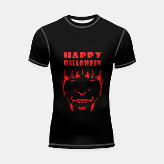 Thumbnail image of Happy Halloween Poster Artwork Shortsleeve rashguard, Live Heroes