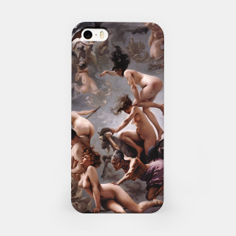 Miniatur Witches Going To Their Sabbath by Luis Ricardo Falero iPhone Case, Live Heroes