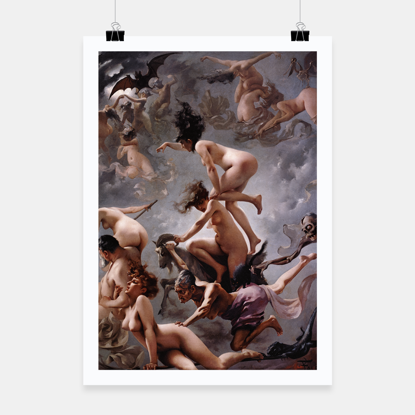 Image of Witches Going To Their Sabbath by Luis Ricardo Falero Poster - Live Heroes