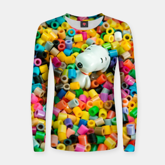 Thumbnail image of Snoopy Beaded Bathtub Women sweater, Live Heroes