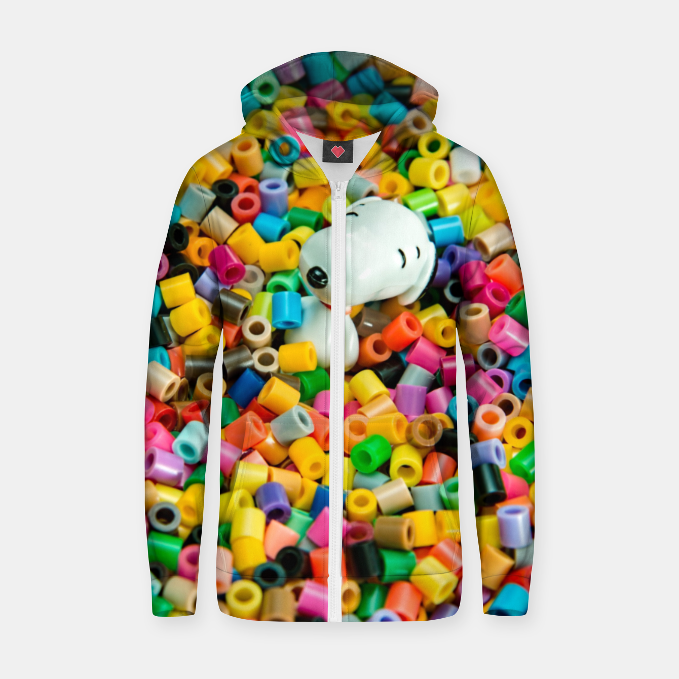 Foto Snoopy Beaded Bathtub Zip up hoodie - Live Heroes