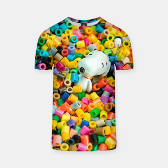 Snoopy Beaded Bathtub T-shirt obraz miniatury
