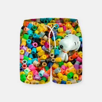 Thumbnail image of Snoopy Beaded Bathtub Swim Shorts, Live Heroes